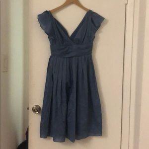 NWT Foley & Corinna Blue Shirred Dress Small XS